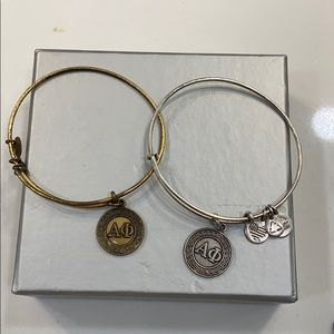 Alpha Phi Alex and Ani Bracelets (Gold and Silver)